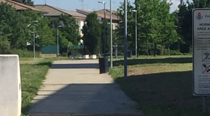 Manutenzione luce e terra municipio-Rigoni Stern-Parco navigli-Defibrillatore (2 foto)