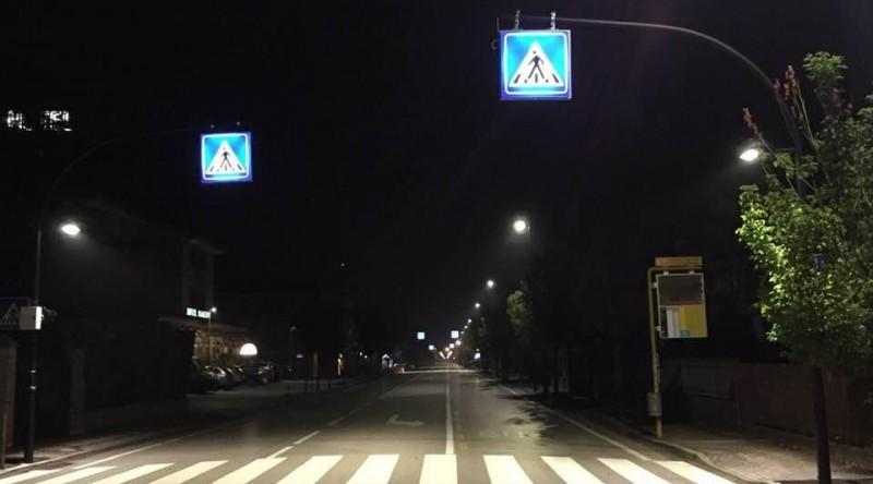 Passaggi pedonali illuminati SS516 (3 foto)